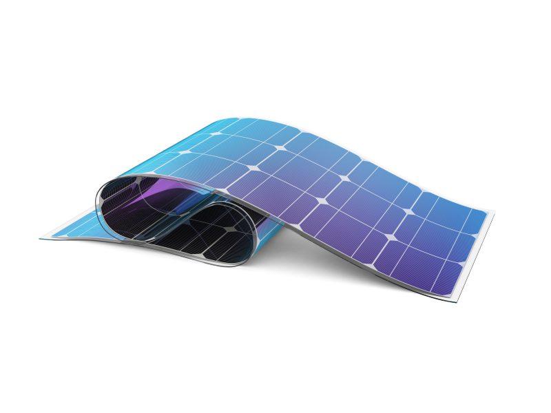Flexible solar battery.