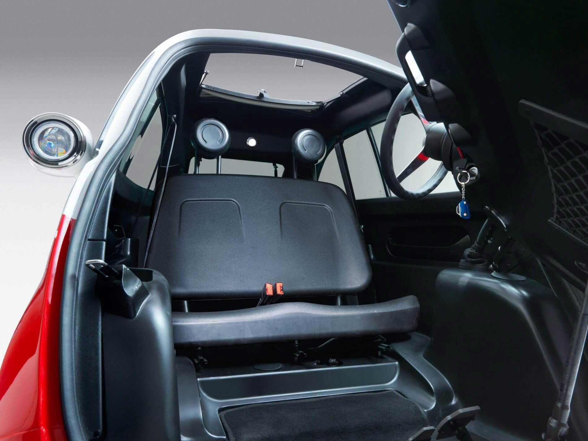 Innenraum Microlino E-Auto