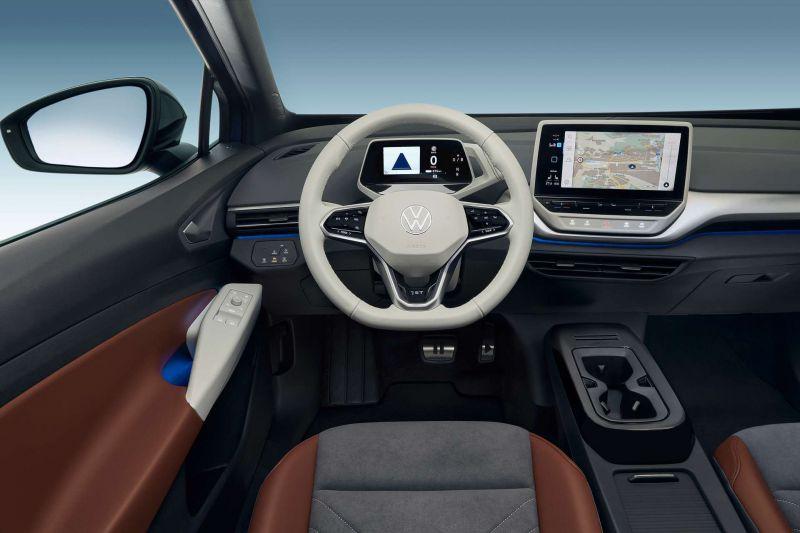 Das Cockpit im Innenraum des ID.4 von VW