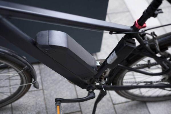 Der Akku eines gebrauchen E-Bikes